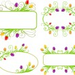 Set of spring frames — Stock Vector