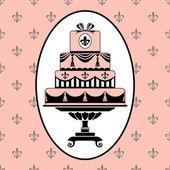 Birthday or wedding invitation template — Stock Vector
