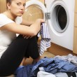 Housewife doing laundry — Stock Photo #5592754