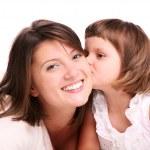 Kissing my mom — Stock Photo