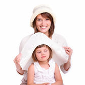 Trying on hats — Stock Photo