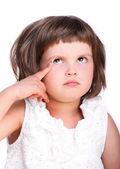 Little girl with idea — Stock Photo