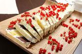 Röda vinbär kaka — Stockfoto