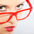 Woman in red glasses — Stock Photo #6051875