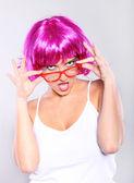 Colorful businesswoman — Stock Photo