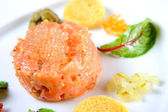 Salmon tatar — Stock Photo