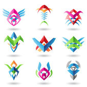 Blade like abstract icons — Stock Photo