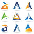 Abstract icons for letter A — Stock Photo #5964940