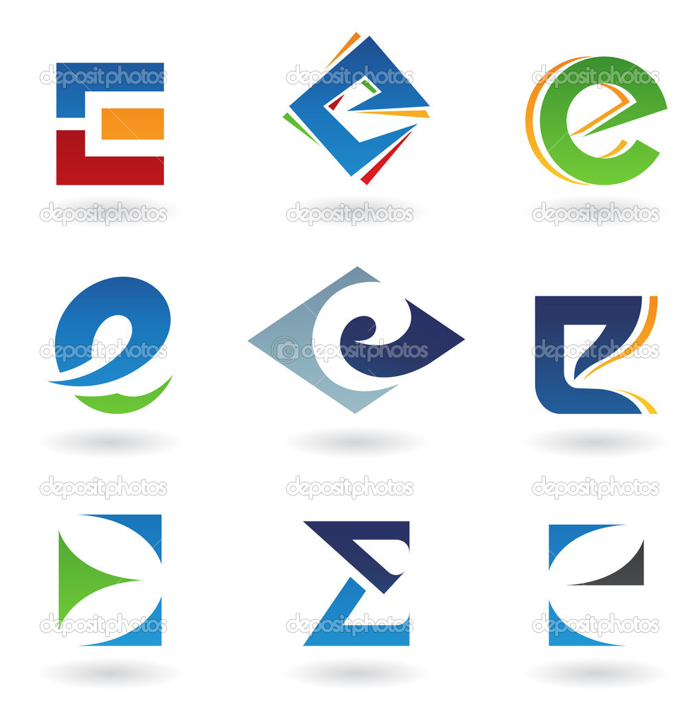 Vector illustration of abstract icons based on the letter E — Stock Photo #5975895