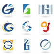 Abstract icons for letter G — Stock Photo #5982139