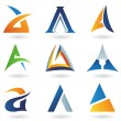 Abstract icons for letter A — Stock Vector #6250020