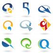 Royalty-Free Stock Vector Image: Abstract icons for letter Q