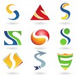 Abstract icons for letter S - Stock Vector