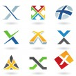 Abstract icons for letter X — Stock Vector #6250098