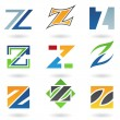 Abstract icons for letter Z — Stock Vector #6250104