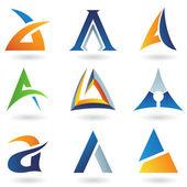 Abstrakt ikoner för brev en — Stockvektor