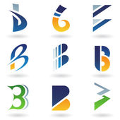 Abstract icons for letter B — Stock Vector