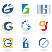 Abstract icons for letter G — Stock Vector