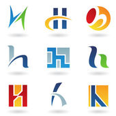 Abstract icons for letter H — Stock Vector