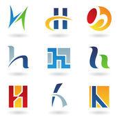 Streszczenie ikony na literę h — Wektor stockowy