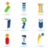 Abstract icons for letter I — Stock Vector