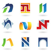 Abstract icons for letter N — Stock Vector