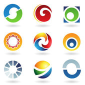 Abstract icons for letter O — Stock Vector