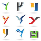 Abstract icons for letter Y — Stock Vector
