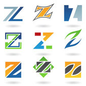 Abstract icons for letter Z — Stock Vector