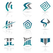 Antique Style Abstract Icons — Stock Vector
