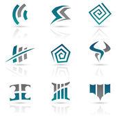 Antieke stijl abstracte pictogrammen — Stockvector