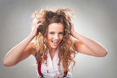 Casual hot young girl burn on party — Stock Photo