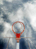 Basketball goal — Stock Photo