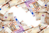 Euro bills Background — Stock Photo