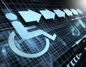 Accessibility symbol — Stock Photo