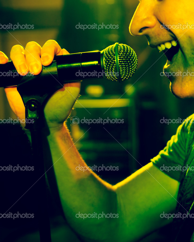 Singer on stage — Stockfoto #6057893