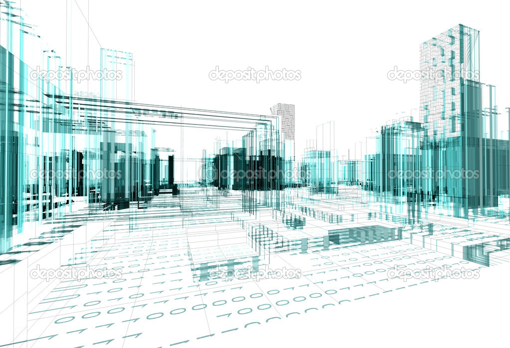 Architectural design of modern city — Stock Photo #6058177