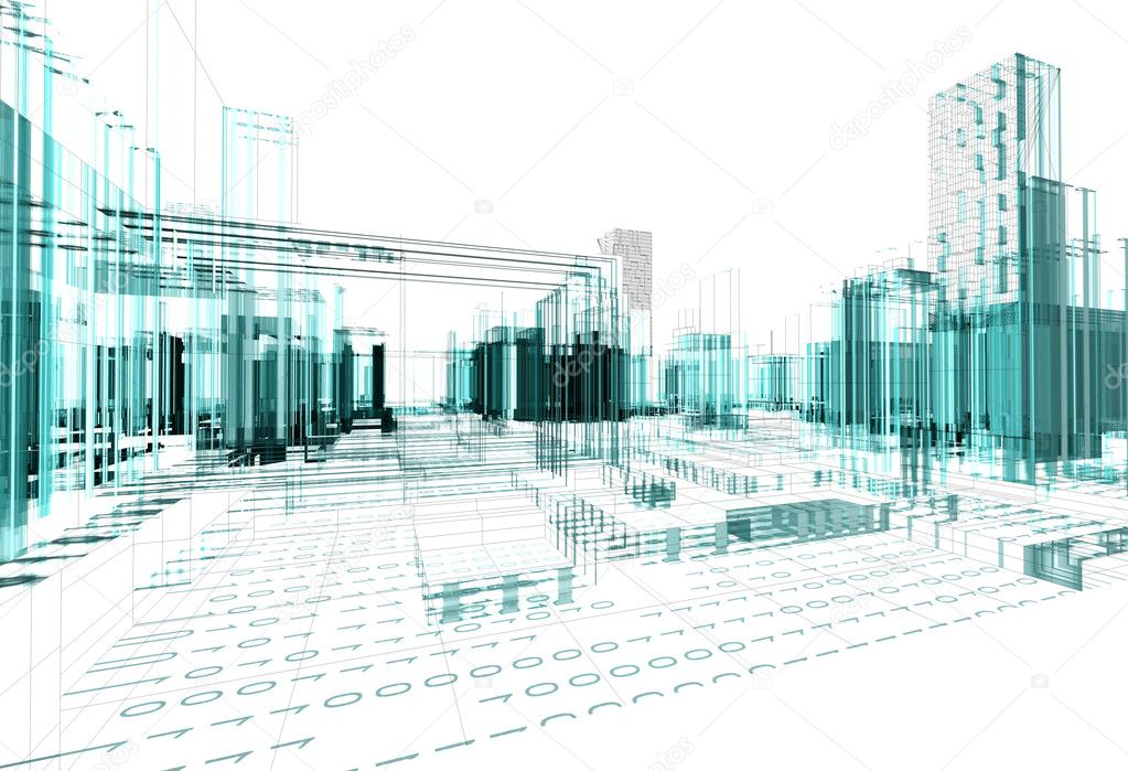Abstract architecture background — Stock Photo © carloscastilla ...