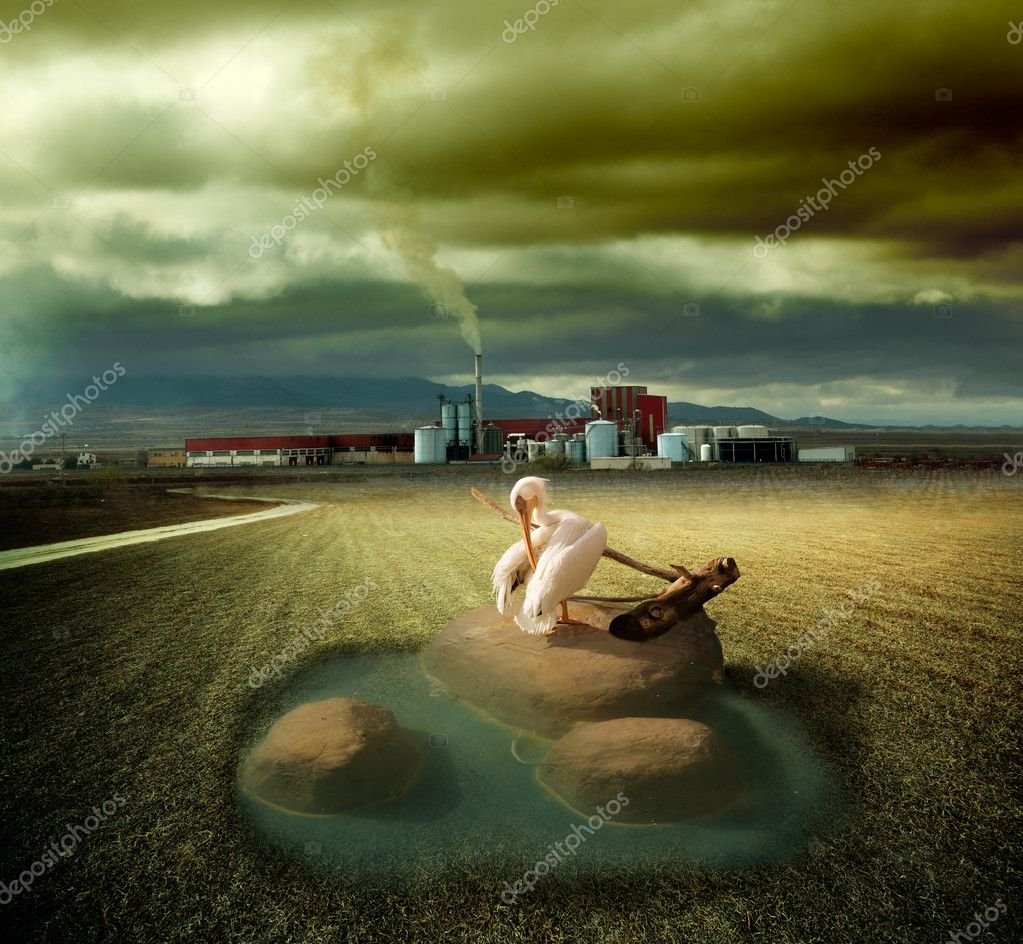Dreamscape  of ecosystem and pollution concept — Stock Photo #6058451