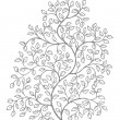 Stock Vector: Ornate, elegant curly vines illustration