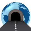 Tunnel crossing the world — Stock Photo #5523396