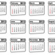 Calendar 2012 - all months - Stock Photo