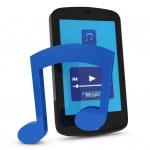 Digital music device — Stock Photo