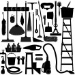 Domestic Household Tool equipment — Imagen vectorial