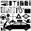 Car Auto Accessories Repair Tool - Stock Vector