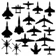 Aircraft plane airplane army jet - Stock Vector