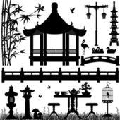 Venkovní zahradní park rekreační — Stock vektor