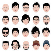 Man Male Face Head Hair Hairstyle — ストックベクタ