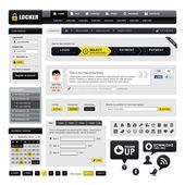 Web tasarım web sitesi eleman vektör — Stok Vektör