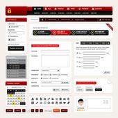 Web Design Website Element Vector — Stock Vector